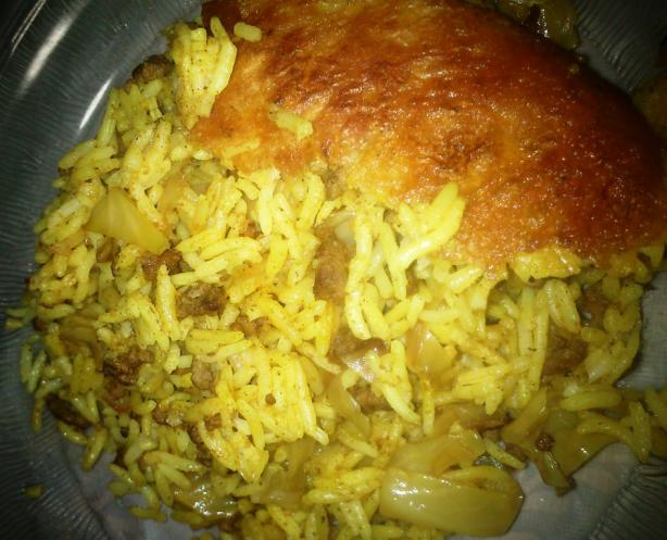 Persian Kalam Polow(Rice and Cabbage)