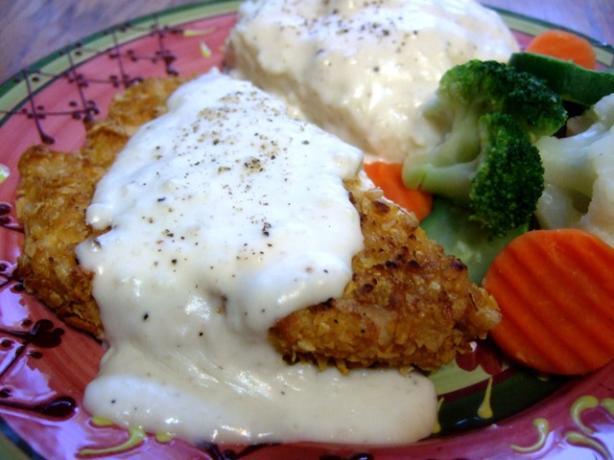 Ultra Low Fat Chicken-Fried Chicken With Cream Gravy