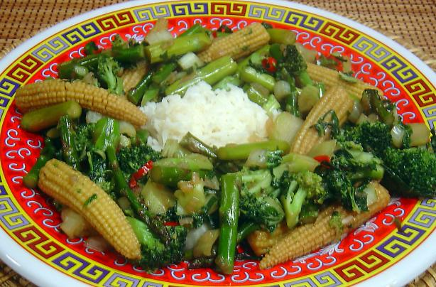 Ken Hom's Stir Fried Mixed Vegetables