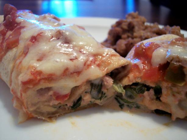 Oven-Baked Turkey-Spinach Enchiladas Extraordinaire
