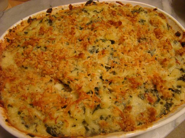 Four Cheese Spinach Macaroni