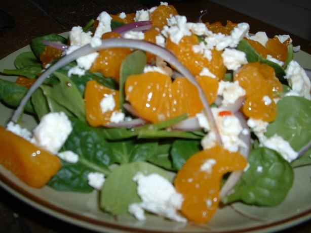 Mandarin, Spinach, and Feta Salad