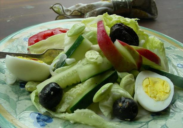 Salad With Hard Boiled Egg