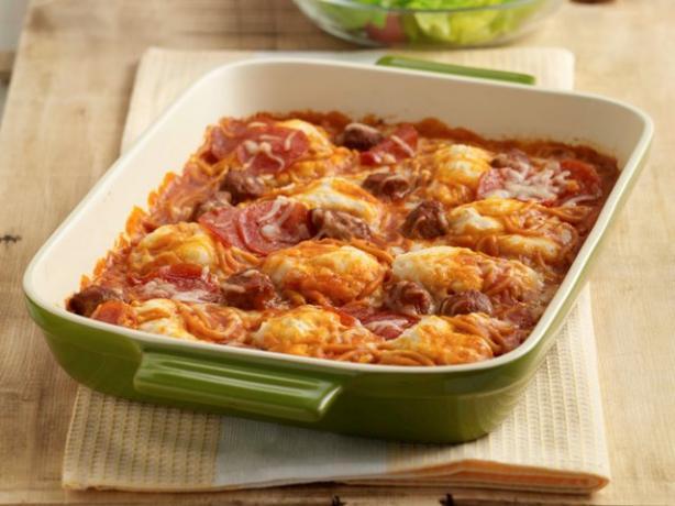Pepperoni Spaghetti Bake