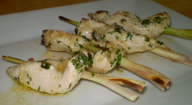 Chicken on Lemongrass Skewers