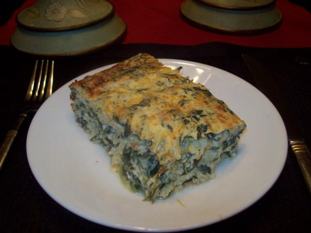 Chicken and Creamy Spinach Crustless Quiche