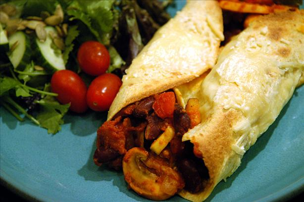 Sylvie's Vegetable Stuffed Tortillas
