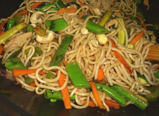 Chicken Cashew and Noodle Stir-Fry