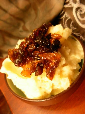 Horseradish Mashed Potatoes With Caramelized Onions