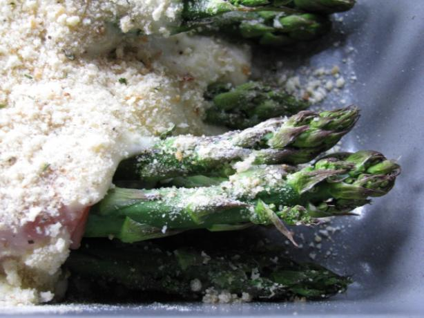 Cheesy Asparagus And Ham