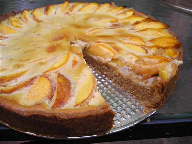 Peach Tart With a Ginger Crust