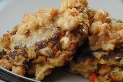 Crab Cakes With Shrimp Sauce (British Virgin Islands)