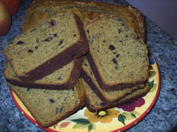 New England Harvest Cranberry Pumpkin Bread