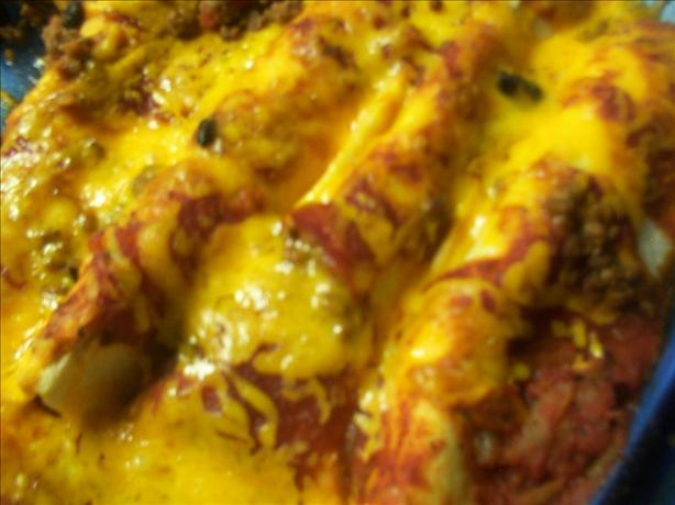 Lighter Beef and Bean Enchiladas
