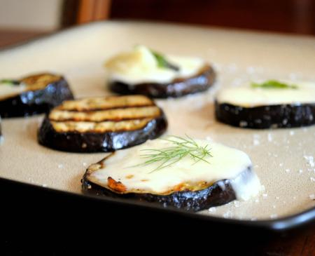Grilled Eggplant Roulade With Balsamic Glaze