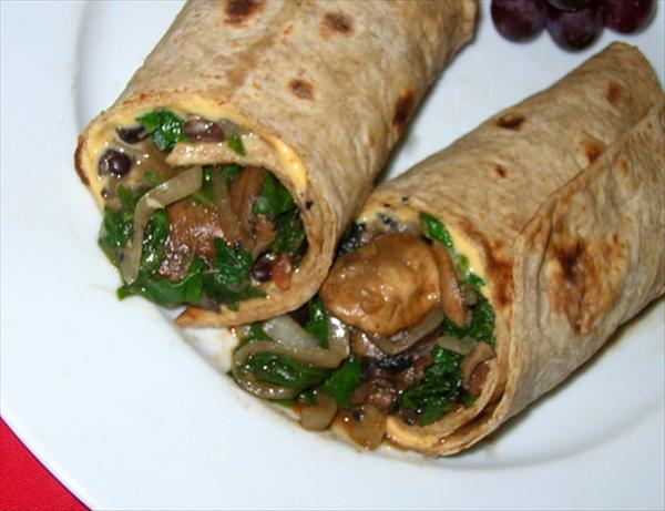 Veggie and Black Bean Wrap