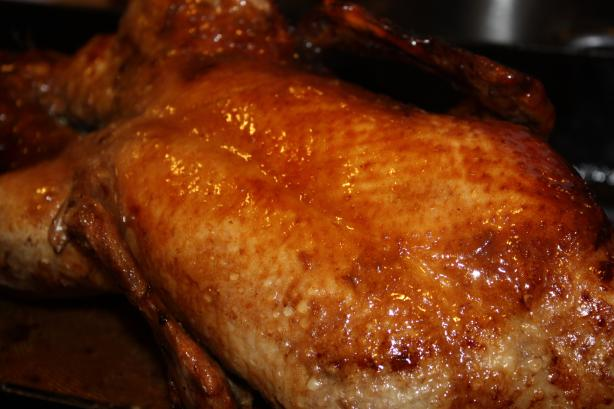 Roast Duck With a Honey Soy Basting Sauce