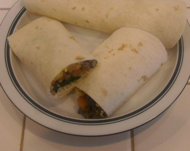 Black Bean and Avocado Wrap
