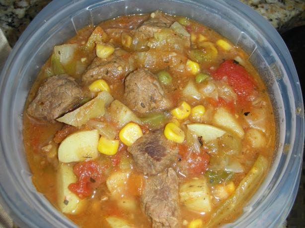 "Big Brother Ted's Veggie Beef ""stoup""!"