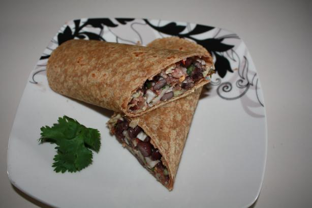 Tuna & Black Bean Wrap