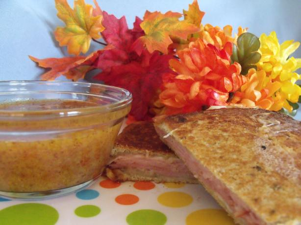 Ham & Manchego Panini With Dipping Sauce