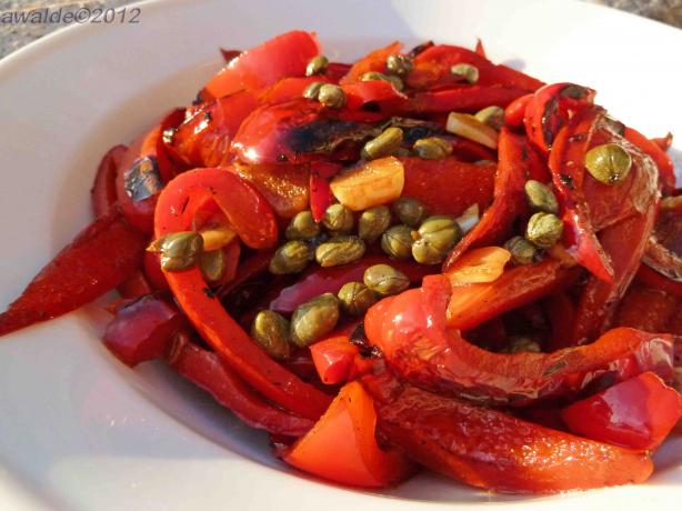 Red Bell Peppers With Capers-Tapas