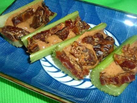 Celery With Almond Butter and Dates