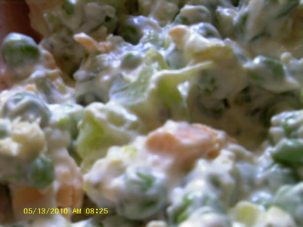 Green Peas and Golden Cheese Salad