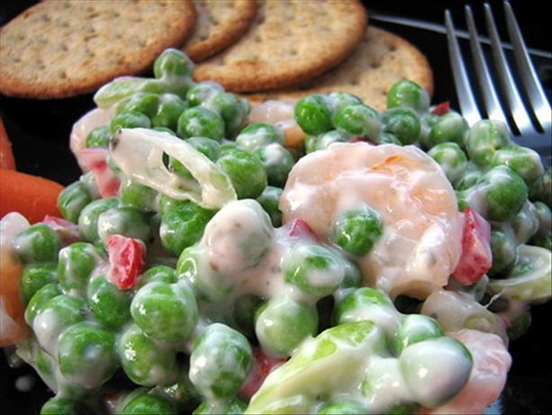 Shrimp Salad With Peas