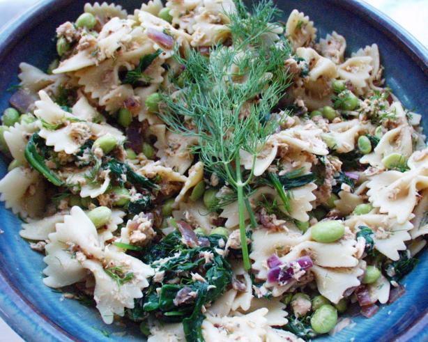 Salmon and Edamame Pasta Salad