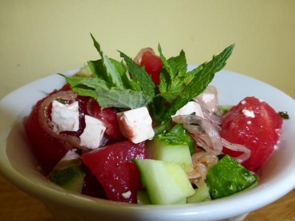 Watermelon-Cucumber Salad With Feta