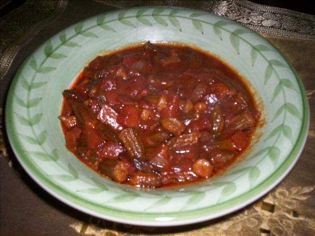 Spicy Okra Stir Fry(Middle Eastern Style)