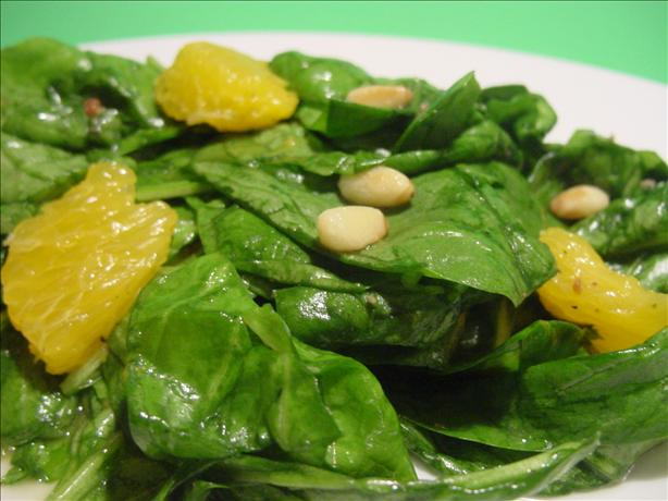 California Wilted Spinach Salad