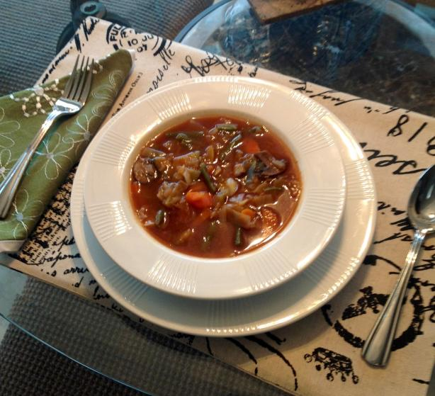 Vegetarian Cabbage Vegetable Soup