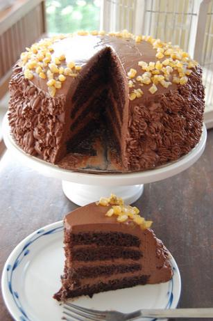 Orange Chocolate Ganache Cake