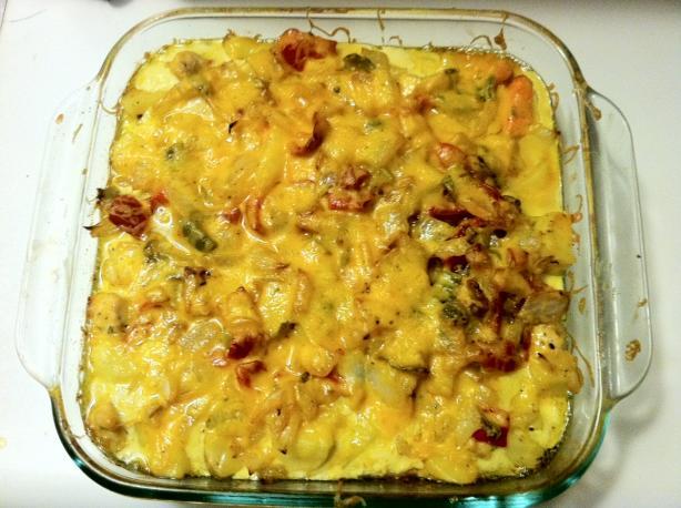 Potato, Onion, Egg Casserole