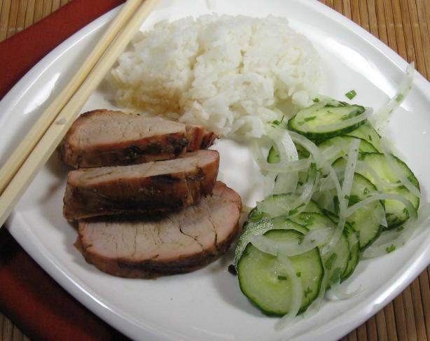 Sesame Pork With Thai Cucumber Salad