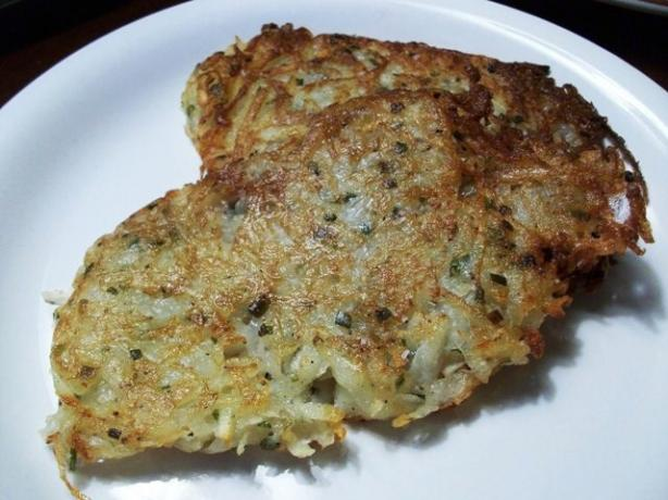 Lacy Potato Pancakes With Chives