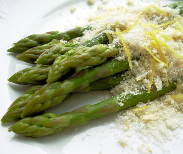 Asparagus With Lemon Butter Crumbs