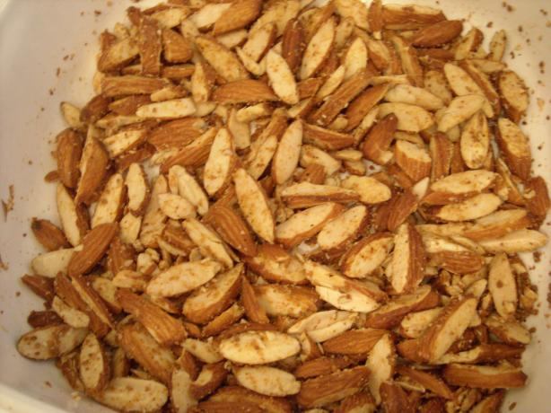 Roasted Garlic Parmesan Almonds (Salad Topper)