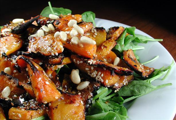 Pumpkin (Squash) & Spinach Salad