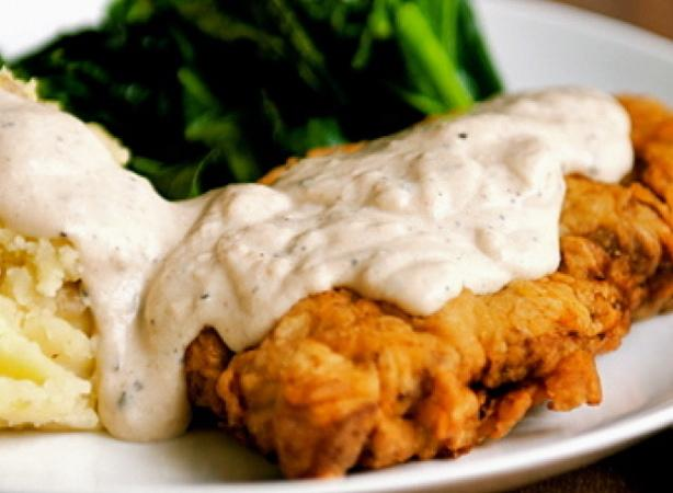 Kentucky Fried Steak With Cream Gravy