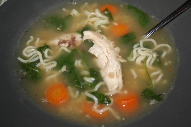 Chicken Noodle Soup Using 5 Ingredients