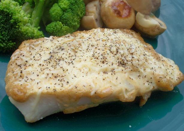 Baked Halibut With Parmesan