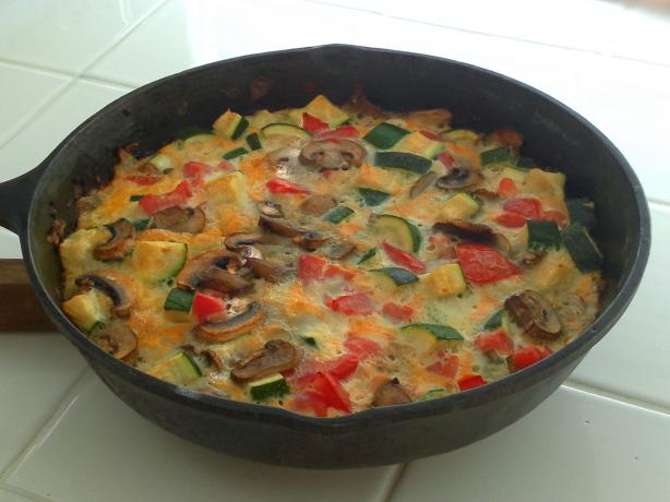 One-Skillet Crustless Zucchini Quiche
