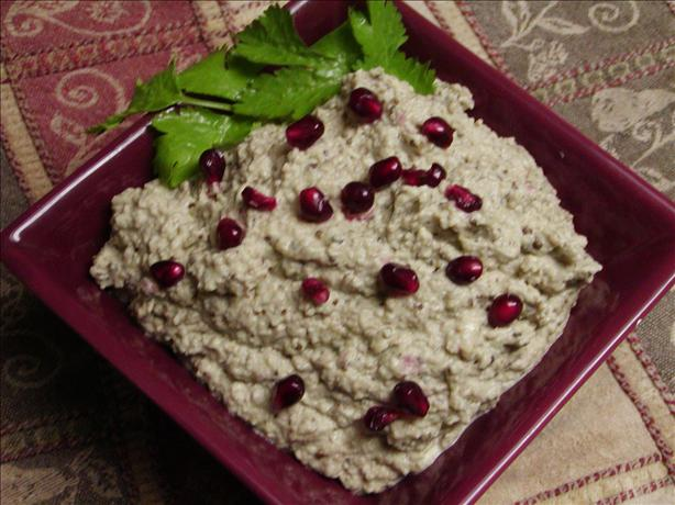 Baba Ganouj - Eggplant Dip With Sesame Oil