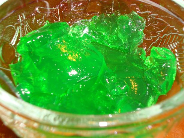 Green Irish Whiskey Sour Jell-O