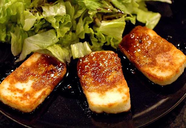 Halloumi Cheese with caramelised balsamic vinegar