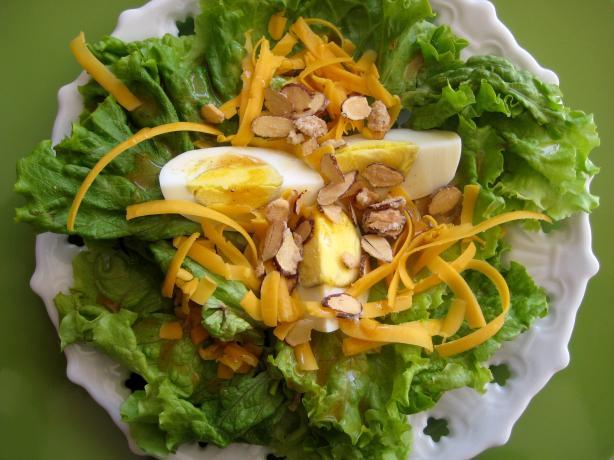 Cheddar Almond Lettuce Salad