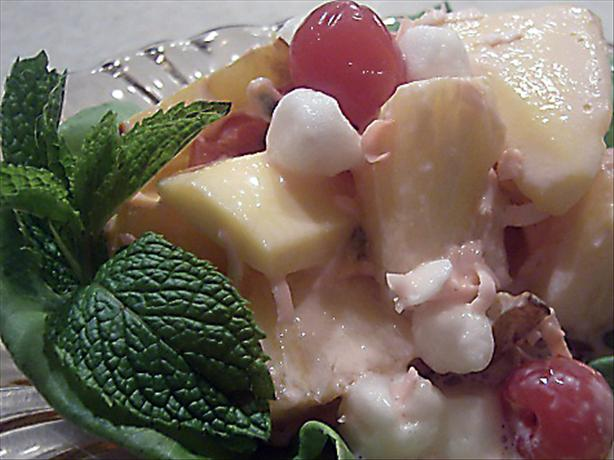 Passionately Pink Tropical Fruit Salad
